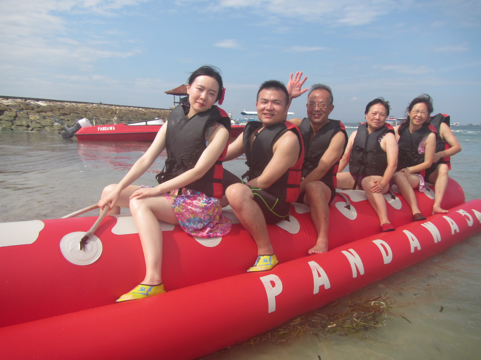 banana boat at pandawa marine adventure bali