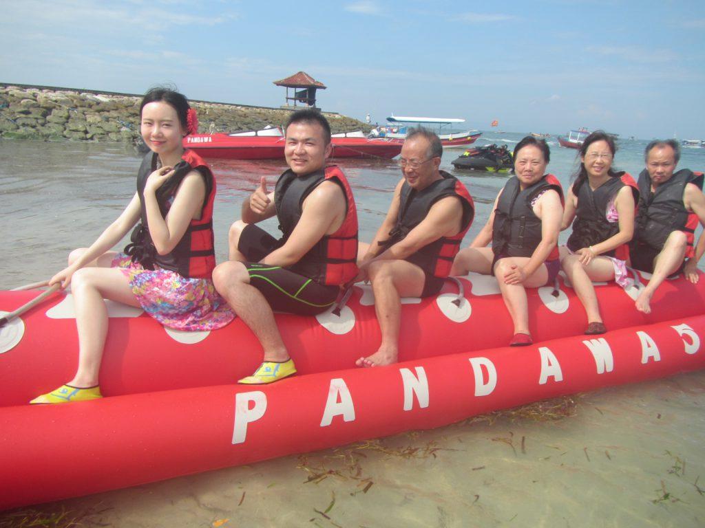 banana boat at pandawa marine adventure bali